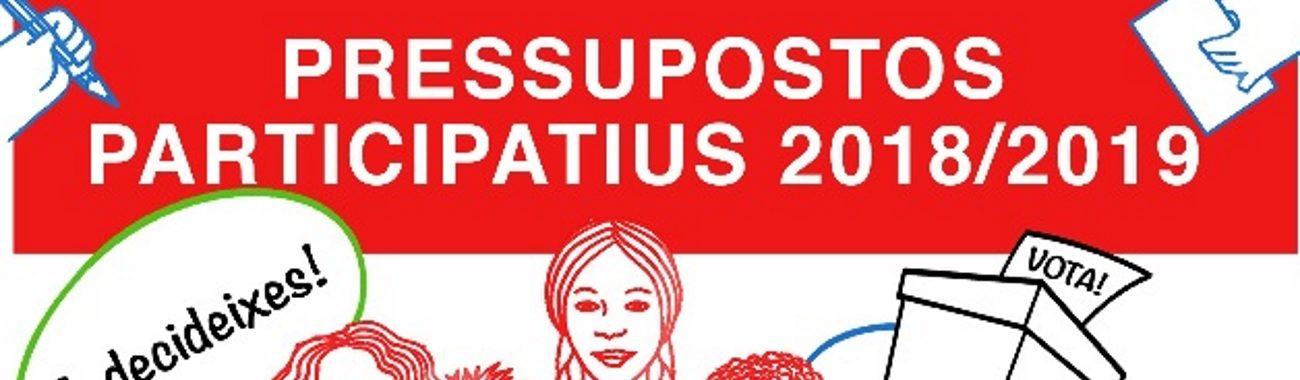 Votació dels pressupostos participatius 2018/2019